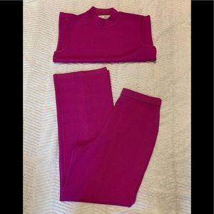 St. John purple/pink top and pants set